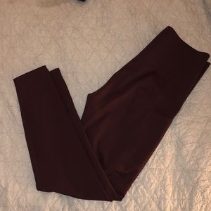Nike High Rise Burgundy Leggings